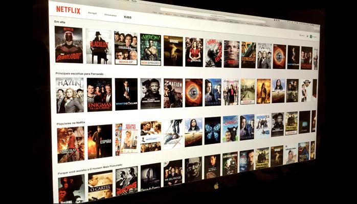 Imagem: foto da tela geral do app Netflix